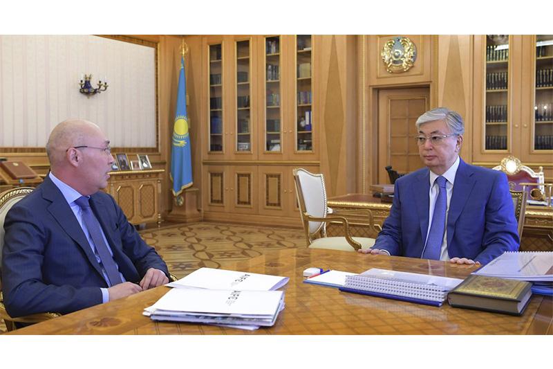 总统接见阿斯塔纳国际金融中心总裁
