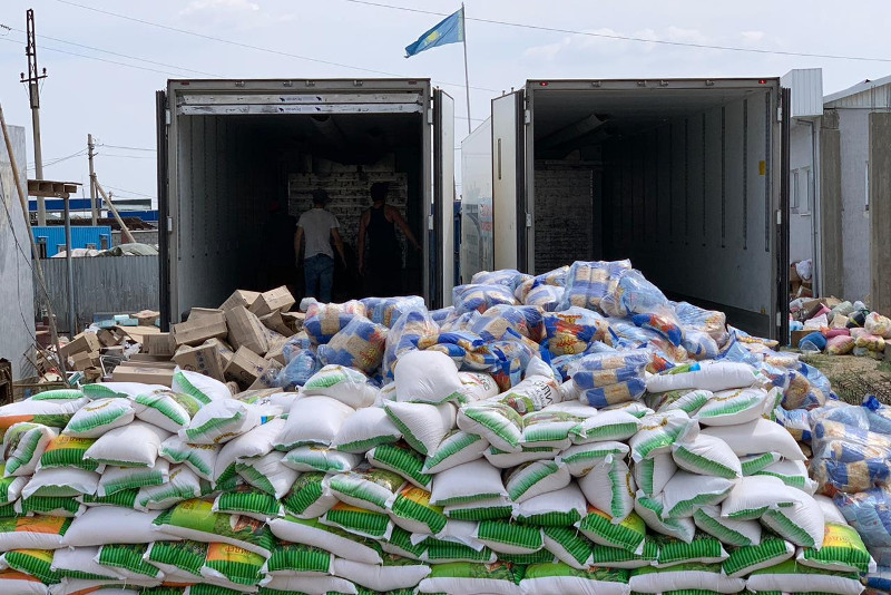 270 tons of humanitarian aid delivered to Arys