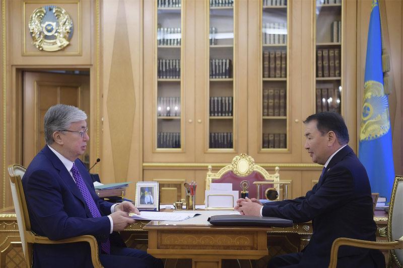 托卡耶夫总统接见宪法委员会主席