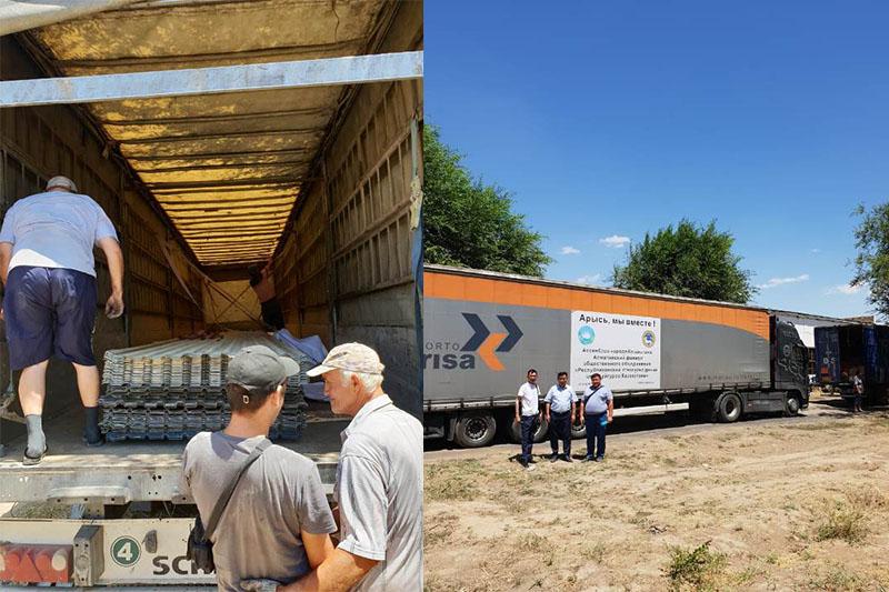 Қазақстан халқы Ассамблеясы Арысқа 65 тонна гуманитарлық көмек жеткізді