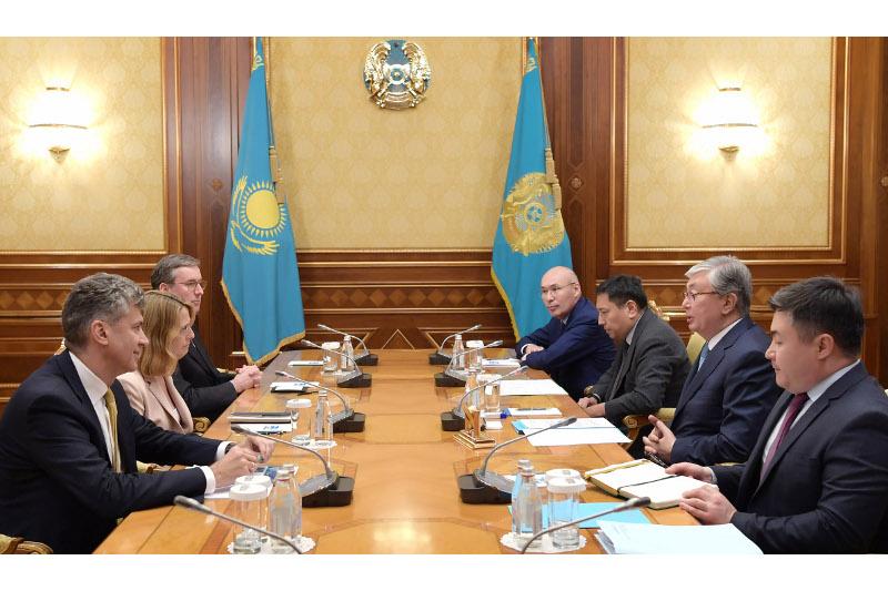 托卡耶夫总统会见花旗集团代表