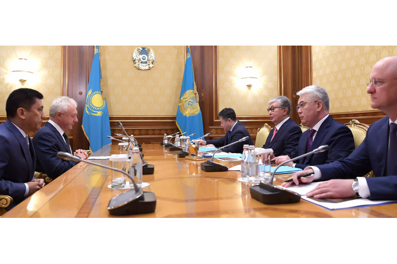 托卡耶夫会见Polymetal集团公司代表