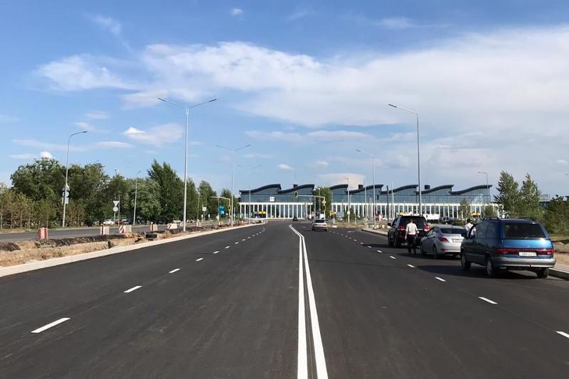 Участок дороги в столичный аэропорт открыли в Нур-Султане