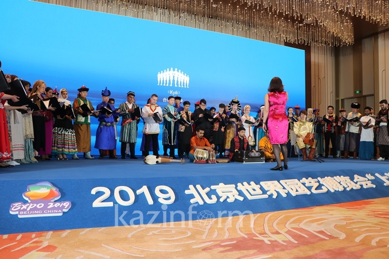 Unique SCO Youth Chorus performs Dombra Composition