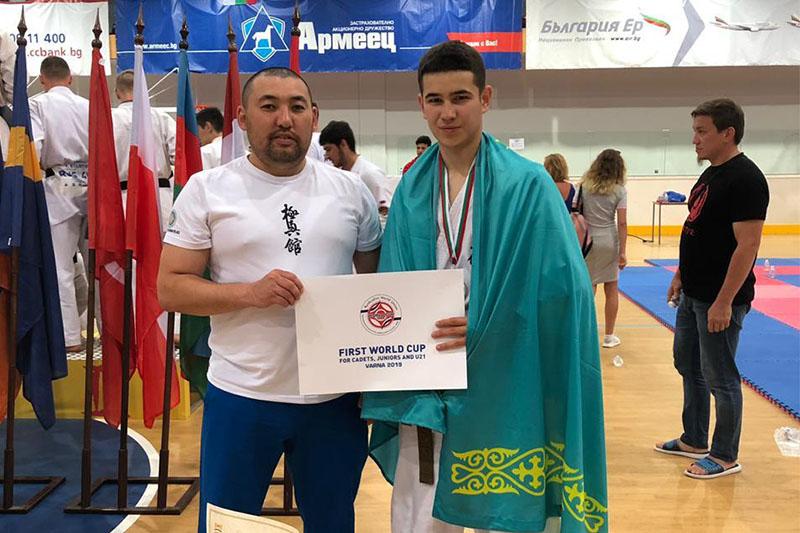 Акмолинский каратист завоевал «серебро» в Болгарии
