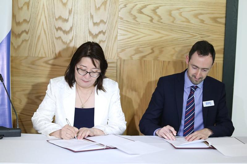 Kazakh Ministry of Healthcare, BMJ ink memorandum of cooperation