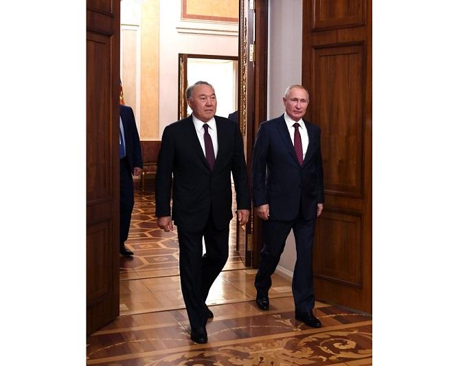 Нурсултан Назарбаев и Владимир Путин обсудили ключевые аспекты взаимодействия Казахстана и России