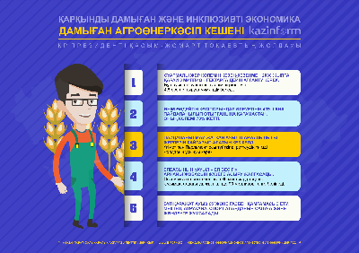 Damyǵan agroónerkásip kesheni. QR Prezıdenti Qasym-Jomart Toqaevtyń Joldaýy