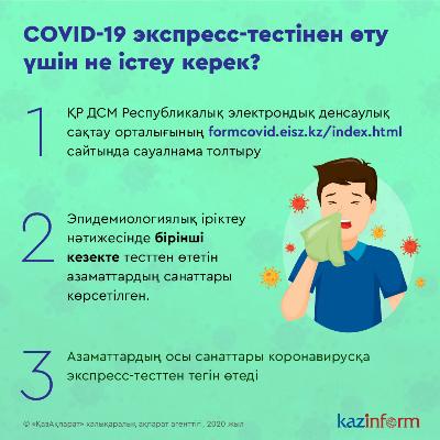 COVID-19 экспресс-тестінен өту үшін не істеу керек?