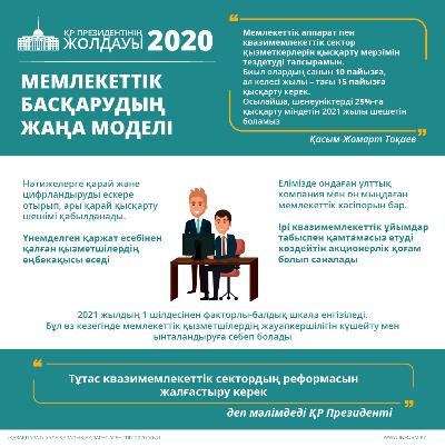 ҚР Президентінің Жолдауы. Мемлекеттік басқарудың жаңа моделі