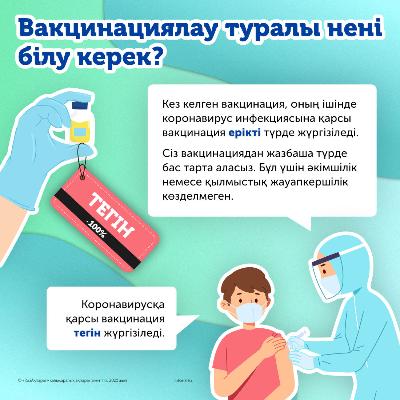 Вакцинациялау туралы нені білу керек?
