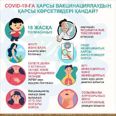 COVID-19-ға қарсы вакцинациялаудың қарсы көрсетімдері қандай?