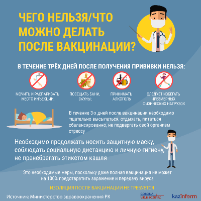 Чего нельзя и что можно делать после вакцинации?