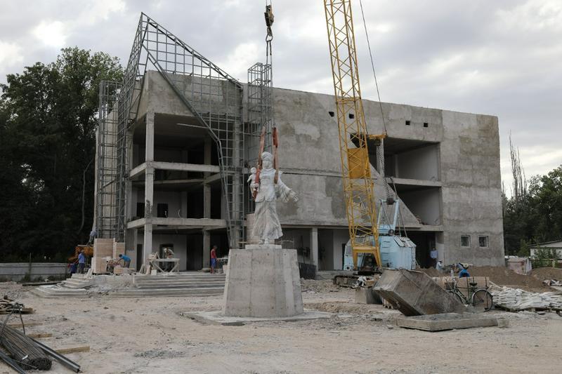 В национальном стиле украсят строящийся в Таразе «Доме Матери»