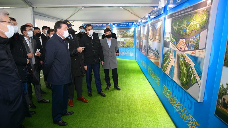 Аскар Мамин дал старт реализации второго этапа развития курортной зоны Актау2