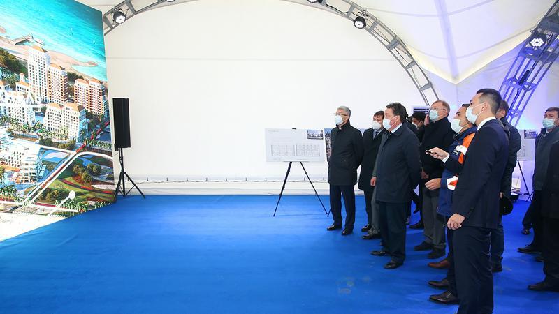 Аскар Мамин дал старт реализации второго этапа развития курортной зоны Актау1