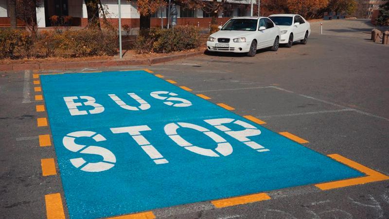 Парковки для туристских автобусов появились в Алматы1