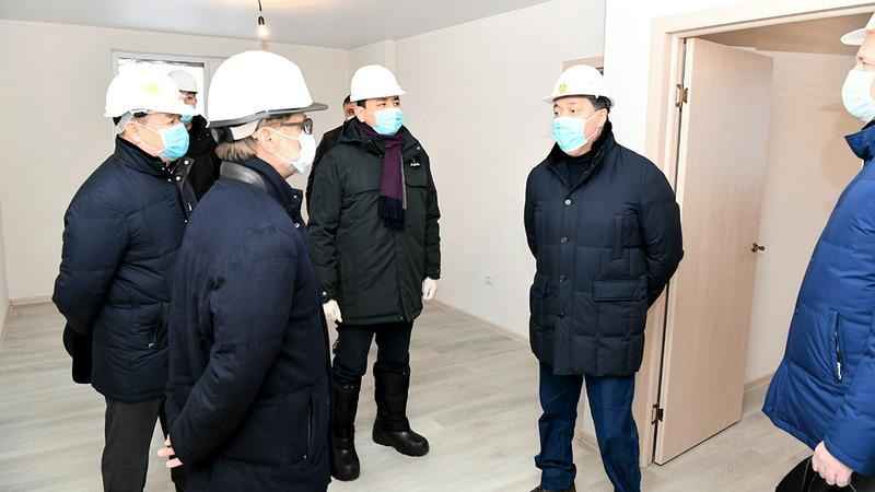 Аскар Мамин проинспектировал ход строительства жилья в Нур-Султане2