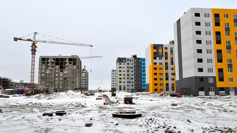 Аскар Мамин проинспектировал ход строительства жилья в Нур-Султане1