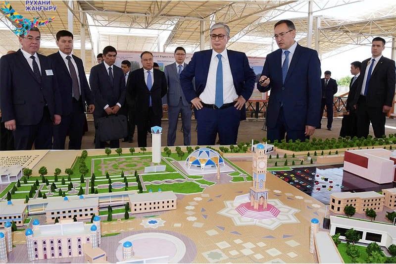 Касым-Жомарт Токаев осмотрел археологический парк «Древний Тараз»
