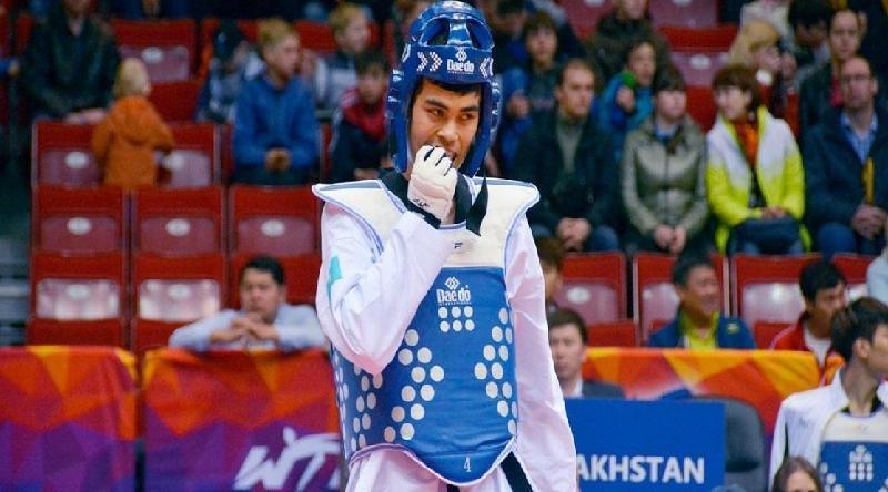 2019大运会:哈萨克斯坦跆拳道选手摘得银牌
