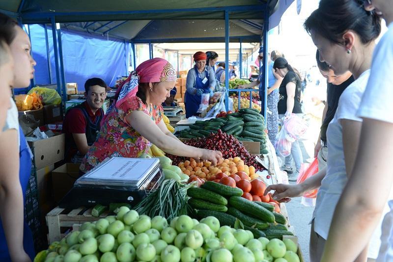 Елордада Жамбыл облысының ауылшаруашылық жәрмеңкесі өтуде