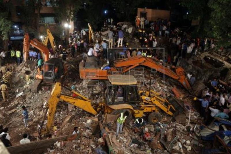 At least 40 trapped as multi-storey building collapses in India's Mumbai