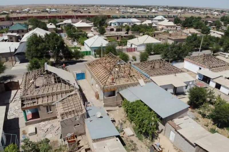 Арысь: завершается ремонт 355 домов в секторе, закрепленном за Туркестанской областью