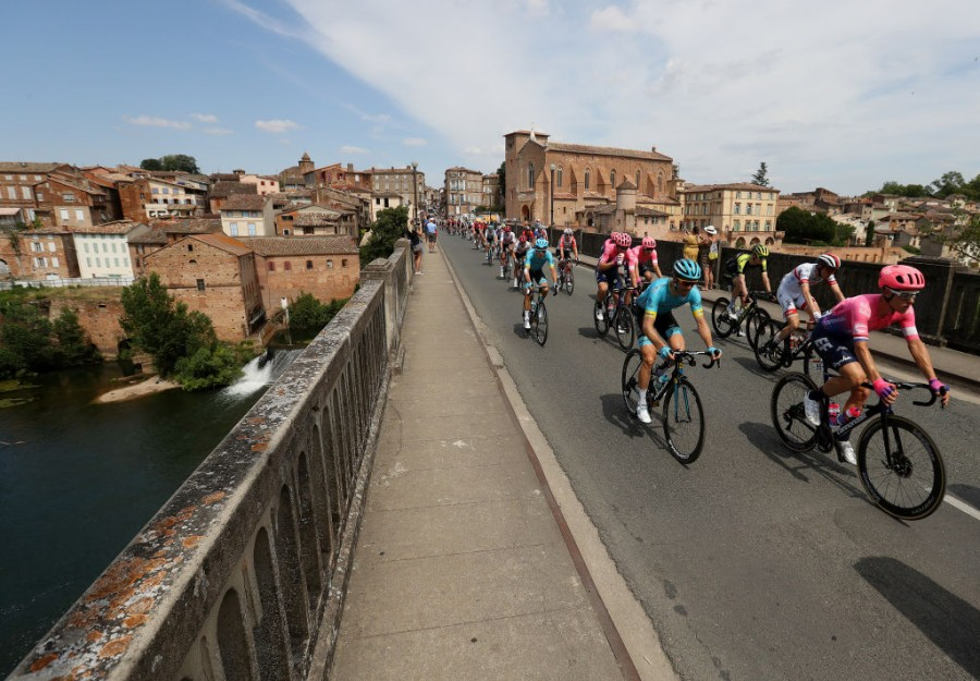 Tour de France. Stage 11. Bunch sprint in Toulouse