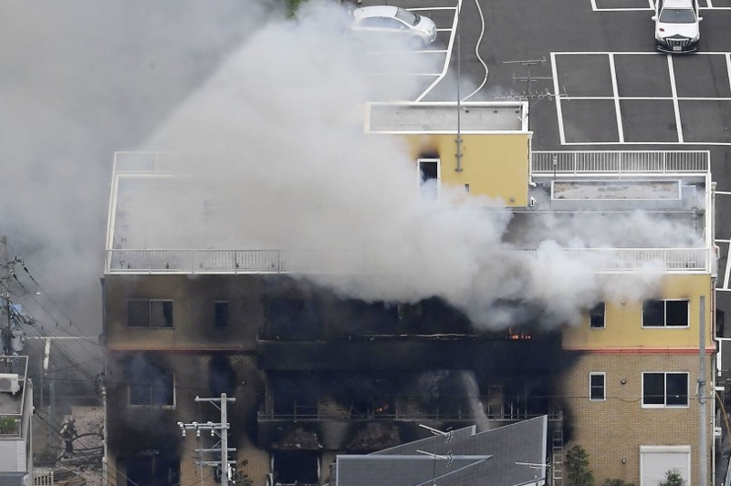 Пожар произошел на анимационной студии в Японии, 13 человек погибли
