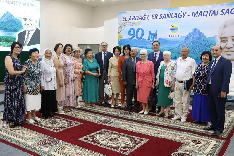 В Акмолинской области проведено собрание в честь 90-летия Мактая Сагдиева
