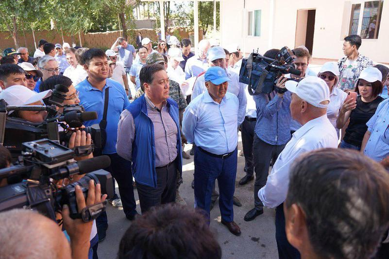 PM inspects restoration in Arys, construction pace in Turkestan