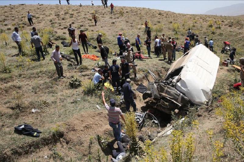 Түркияда мигранттар мінген автобус аударылып, 16 адам қаза тапты