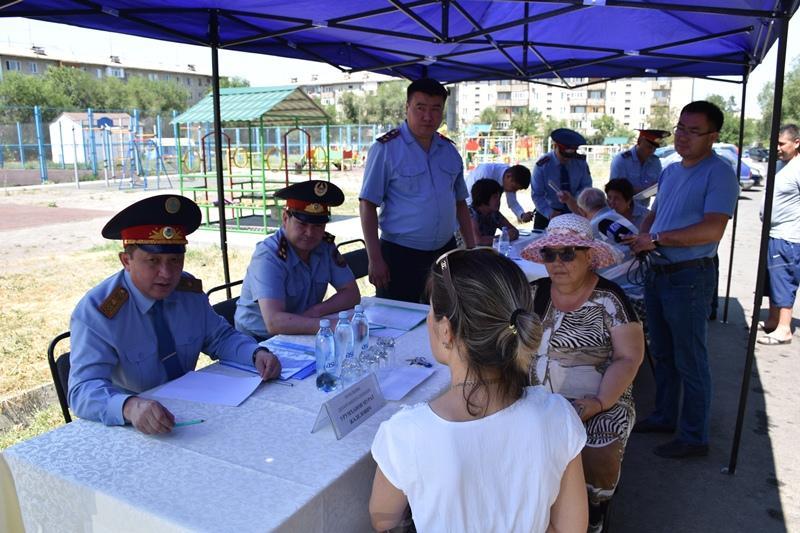Алматы облысының тұрғындары ПД басшысына қауіпсіздікке қатысты проблемаларын айтты