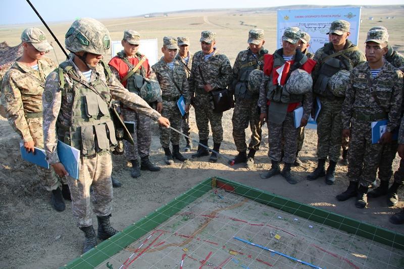 В Вооруженных Силах Казахстана проводятся тактические учения