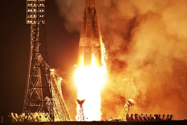 С Байконура на МКС отправился экипаж корабля «Союз МС-13»