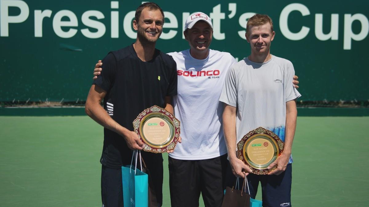 Теннисисты Голубев и Недовесов одержали победу на Кубке Президента РК