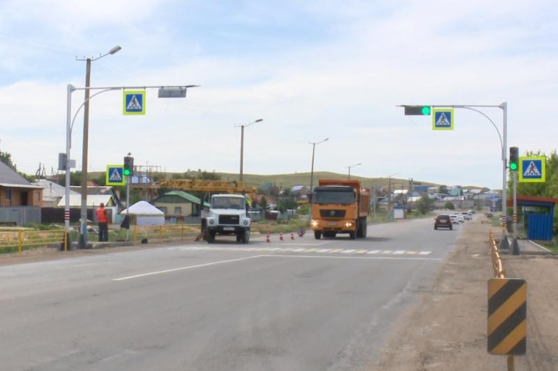 В Кокшетау обезопасили проблемный дорожный участок