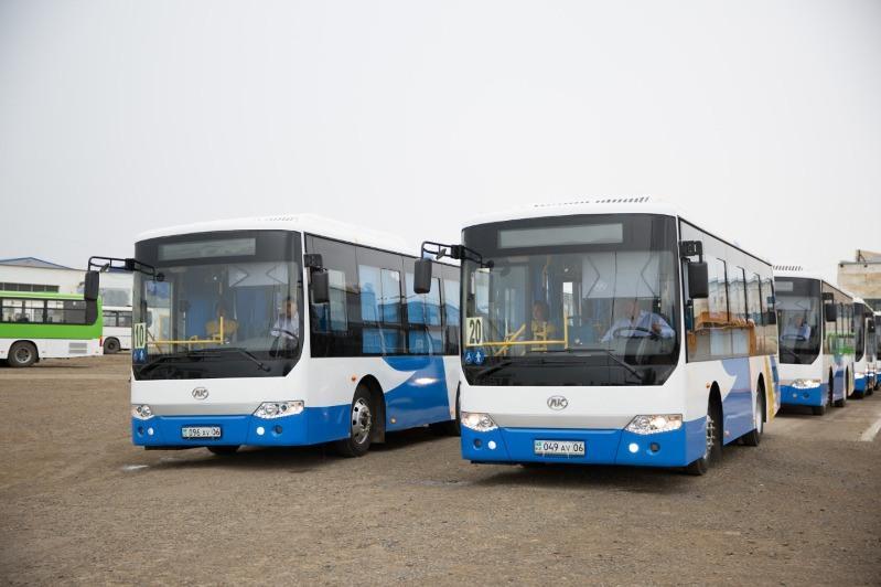 Городской автопарк Атырау пополнили 10 новых автобусов