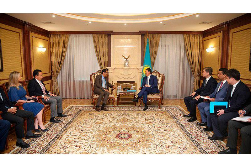 PM Askar Mamin, CEO of SoftBank Investment Advisers Rajeev Misra meet in Nur-Sultan