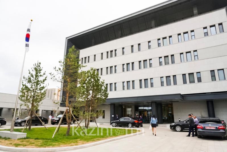 韩国驻哈萨克斯坦大使馆新馆揭幕
