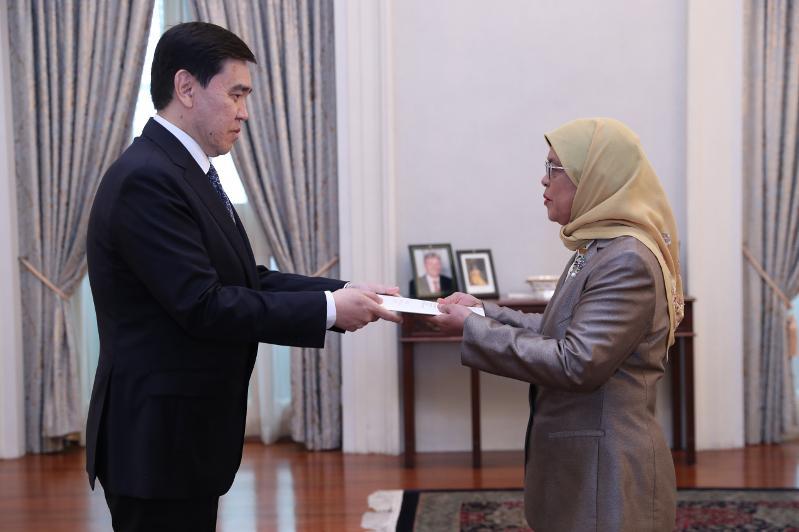 哈萨克斯坦驻新加坡大使向该国总统递交国书