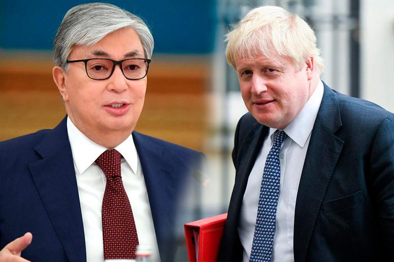 托卡耶夫总统致信祝贺鲍里斯•约翰逊当选英国首相