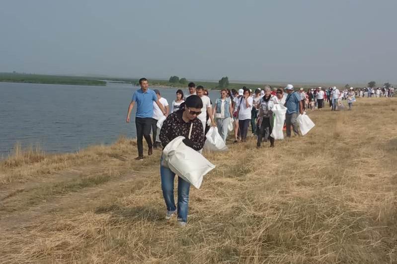 Экологическая акция «Бірге – таза Қазақстан» проходит в Акмолинской области
