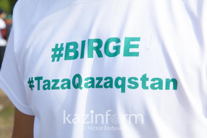 #Birge #TazaQazaqstan: Таразда 61,8 шақырым жағажайдан 258 тонна қоқыс шығарылды