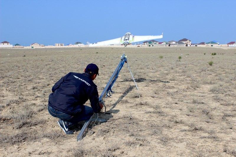 Казпочта запустила доставку прессы дронами на Западе Казахстана