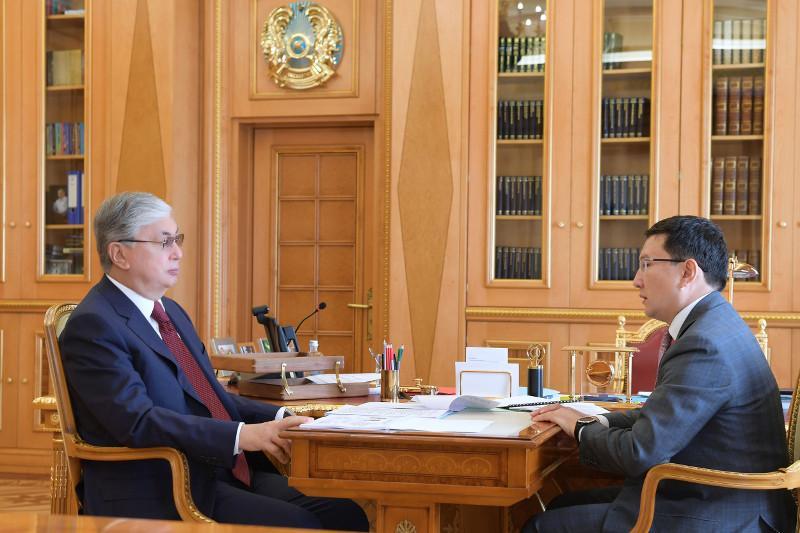 总统接见巴伊铁列克国有控股公司执行总裁
