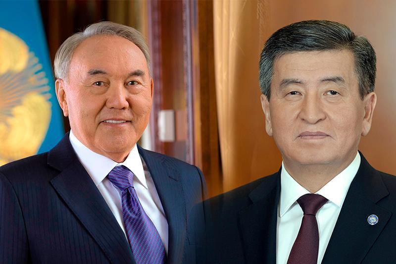 纳扎尔巴耶夫与吉尔吉斯总统吉恩别科夫通电话