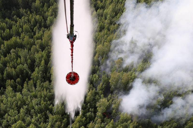 俄罗斯西伯利亚和远东地区森林大火持续