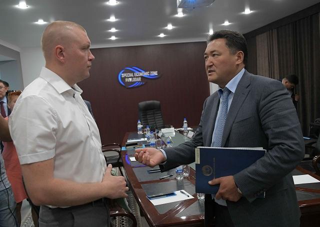 Булат Бакауов предложил построить в Павлодаре завод по сборке оросительных установок